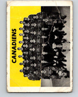 1965-66 Topps #126 Montreal Canadiens Team  Montreal Canadiens  V611