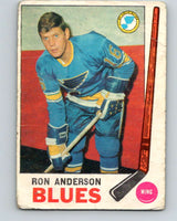 1969-70 O-Pee-Chee #14 Ron Anderson  RC Rookie St. Louis Blues  V1214