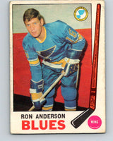 1969-70 O-Pee-Chee #14 Ron Anderson  RC Rookie St. Louis Blues  V1215