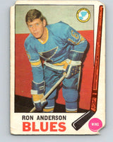 1969-70 O-Pee-Chee #14 Ron Anderson  RC Rookie St. Louis Blues  V1217