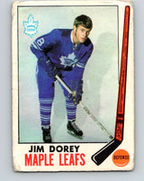 1969-70 O-Pee-Chee #45 Jim Dorey  RC Rookie Toronto Maple Leafs  V1287