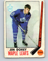 1969-70 O-Pee-Chee #45 Jim Dorey  RC Rookie Toronto Maple Leafs  V1288