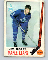 1969-70 O-Pee-Chee #45 Jim Dorey  RC Rookie Toronto Maple Leafs  V1289