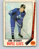 1969-70 O-Pee-Chee #45 Jim Dorey  RC Rookie Toronto Maple Leafs  V1290