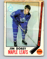 1969-70 O-Pee-Chee #45 Jim Dorey  RC Rookie Toronto Maple Leafs  V1291