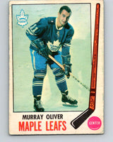 1969-70 O-Pee-Chee #52 Murray Oliver  Toronto Maple Leafs  V1311