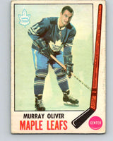 1969-70 O-Pee-Chee #52 Murray Oliver  Toronto Maple Leafs  V1312