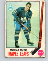 1969-70 O-Pee-Chee #52 Murray Oliver  Toronto Maple Leafs  V1313