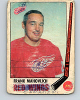 1969-70 O-Pee-Chee #62 Frank Mahovlich  Detroit Red Wings  V1328