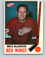 1969-70 O-Pee-Chee #63 Bruce MacGregor  Detroit Red Wings  V1329