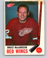 1969-70 O-Pee-Chee #63 Bruce MacGregor  Detroit Red Wings  V1330
