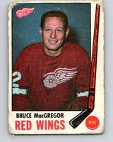 1969-70 O-Pee-Chee #63 Bruce MacGregor  Detroit Red Wings  V1332