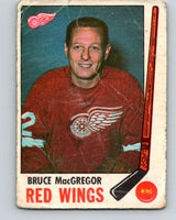 1969-70 O-Pee-Chee #63 Bruce MacGregor  Detroit Red Wings  V1333