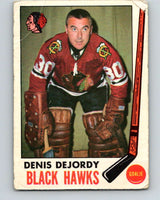 1969-70 O-Pee-Chee #66 Denis DeJordy  Chicago Blackhawks  V1341