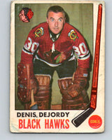 1969-70 O-Pee-Chee #66 Denis DeJordy  Chicago Blackhawks  V1342