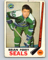 1969-70 O-Pee-Chee #84 Brian Perry  RC Rookie Oakland Seals  V1382