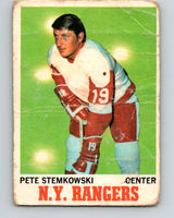 1970-71 O-Pee-Chee #25 Pete Stemkowski  Detroit Red Wings  V2474