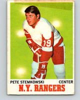 1970-71 O-Pee-Chee #25 Pete Stemkowski  Detroit Red Wings  V2478