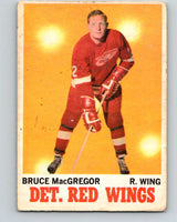 1970-71 O-Pee-Chee #27 Bruce MacGregor  Detroit Red Wings  V2481