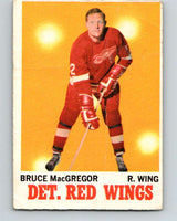 1970-71 O-Pee-Chee #27 Bruce MacGregor  Detroit Red Wings  V2482