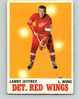 1970-71 O-Pee-Chee #28 Larry Jeffrey  Detroit Red Wings  V2483