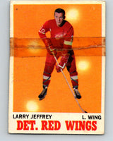 1970-71 O-Pee-Chee #28 Larry Jeffrey  Detroit Red Wings  V2484