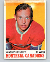 1970-71 O-Pee-Chee #50 Yvan Cournoyer  Montreal Canadiens  V2534