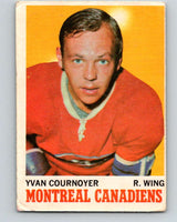 1970-71 O-Pee-Chee #50 Yvan Cournoyer  Montreal Canadiens  V2535