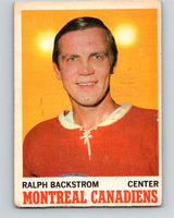 1970-71 O-Pee-Chee #54 Ralph Backstrom  Montreal Canadiens  V2540