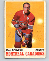 1970-71 O-Pee-Chee #55 Jean Beliveau  Montreal Canadiens  V2542