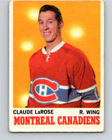 1970-71 O-Pee-Chee #56 Claude Larose  Montreal Canadiens  V2543
