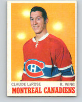 1970-71 O-Pee-Chee #56 Claude Larose  Montreal Canadiens  V2544