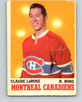1970-71 O-Pee-Chee #56 Claude Larose  Montreal Canadiens  V2545