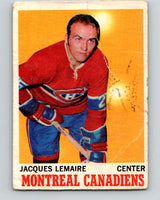 1970-71 O-Pee-Chee #57 Jacques Lemaire  Montreal Canadiens  V2546