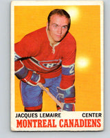 1970-71 O-Pee-Chee #57 Jacques Lemaire  Montreal Canadiens  V2547