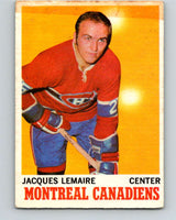 1970-71 O-Pee-Chee #57 Jacques Lemaire  Montreal Canadiens  V2548