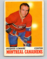1970-71 O-Pee-Chee #57 Jacques Lemaire  Montreal Canadiens  V2549