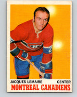 1970-71 O-Pee-Chee #57 Jacques Lemaire  Montreal Canadiens  V2550