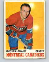 1970-71 O-Pee-Chee #57 Jacques Lemaire  Montreal Canadiens  V2551