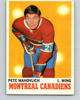 1970-71 O-Pee-Chee #58 Pete Mahovlich  Montreal Canadiens  V2552