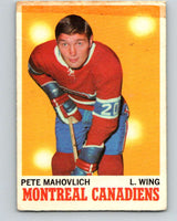 1970-71 O-Pee-Chee #58 Pete Mahovlich  Montreal Canadiens  V2553
