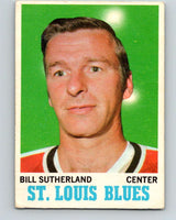 1970-71 O-Pee-Chee #83 Bill Sutherland  St. Louis Blues  V2601