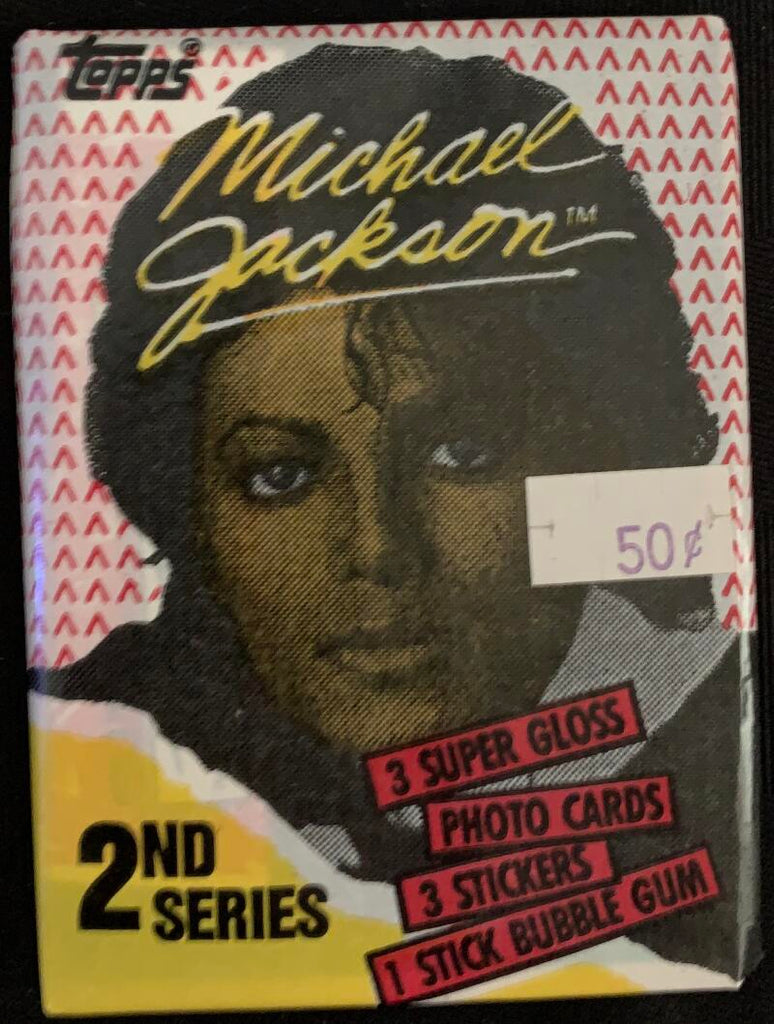 1984 OPC Michael Jackson Series 2 Sealed Wax Hobby Trading Pack PK-14