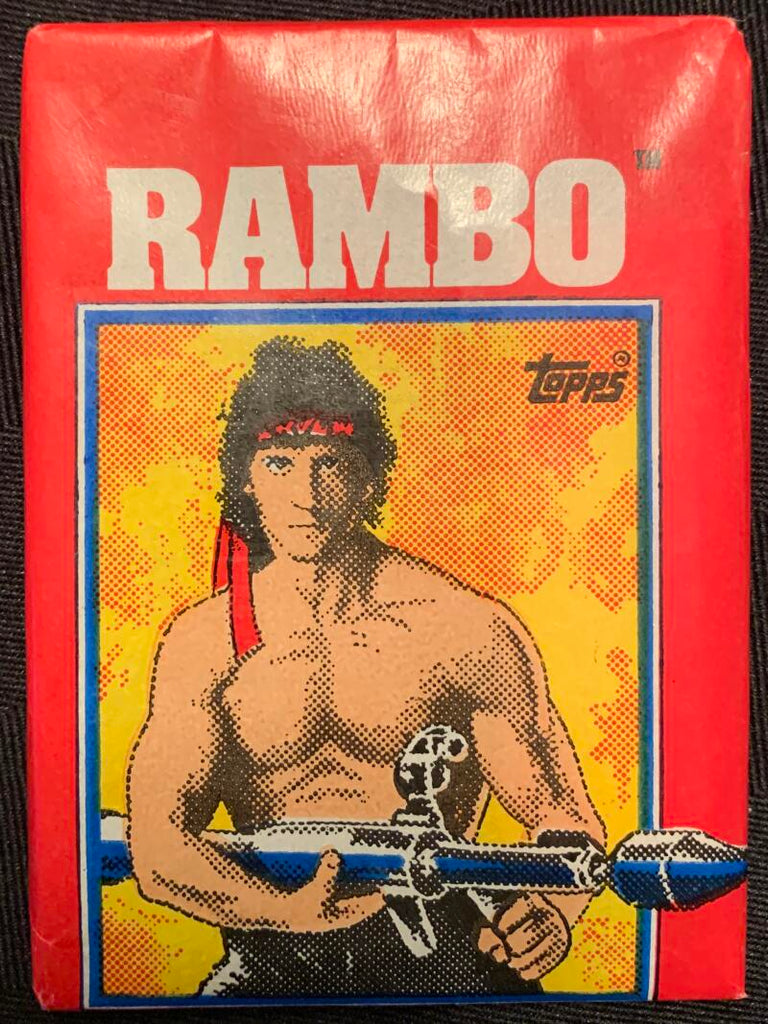 1985 Topps Rambo First Blood Part 2 Sealed Wax Hobby Trading Pack PK-21