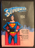 1979 Superman The Movie Sealed Wax Hobby Trading Pack PK-89