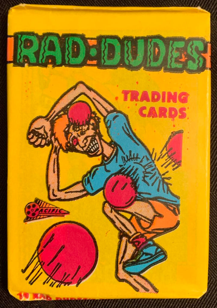 1990 Pacific Rad Dudes Sealed Wax Hobby Trading Pack PK-101