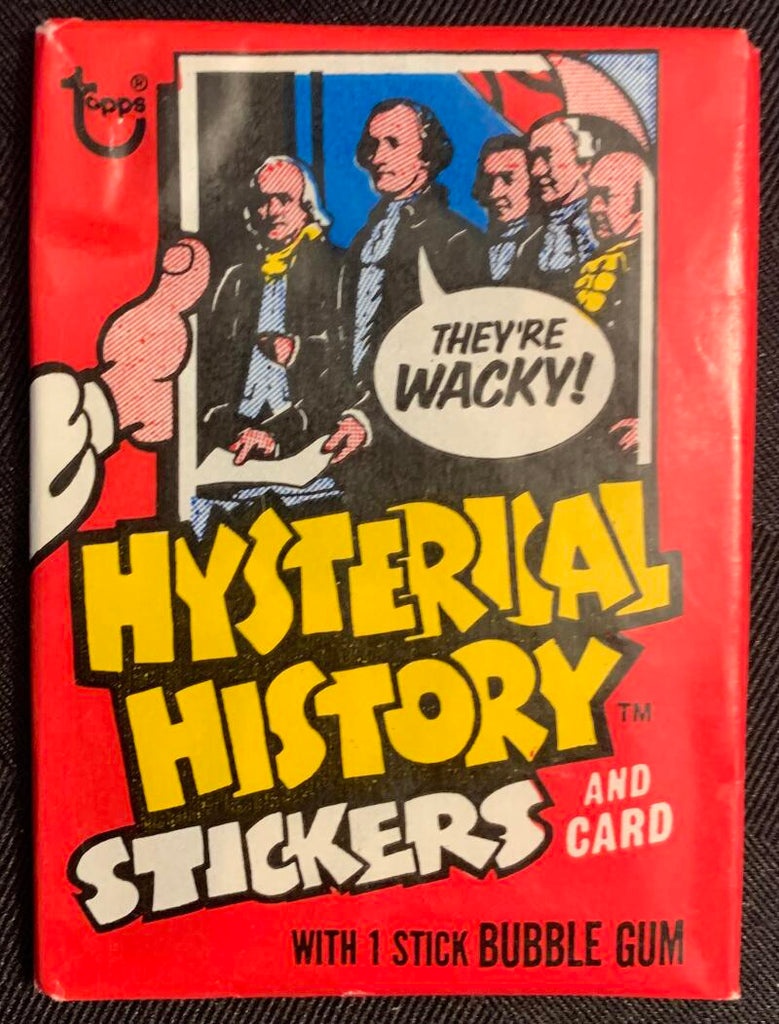 1976 Hysterical History Stickers Sealed Wax Hobby Trading Pack PK-111