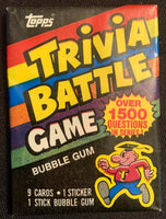 1984 Topps Trivia Battle Game Sealed Wax Hobby Trading Pack PK-115