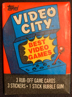 1983 Topps Video City Games Sealed Wax Hobby Trading Pack PK-118