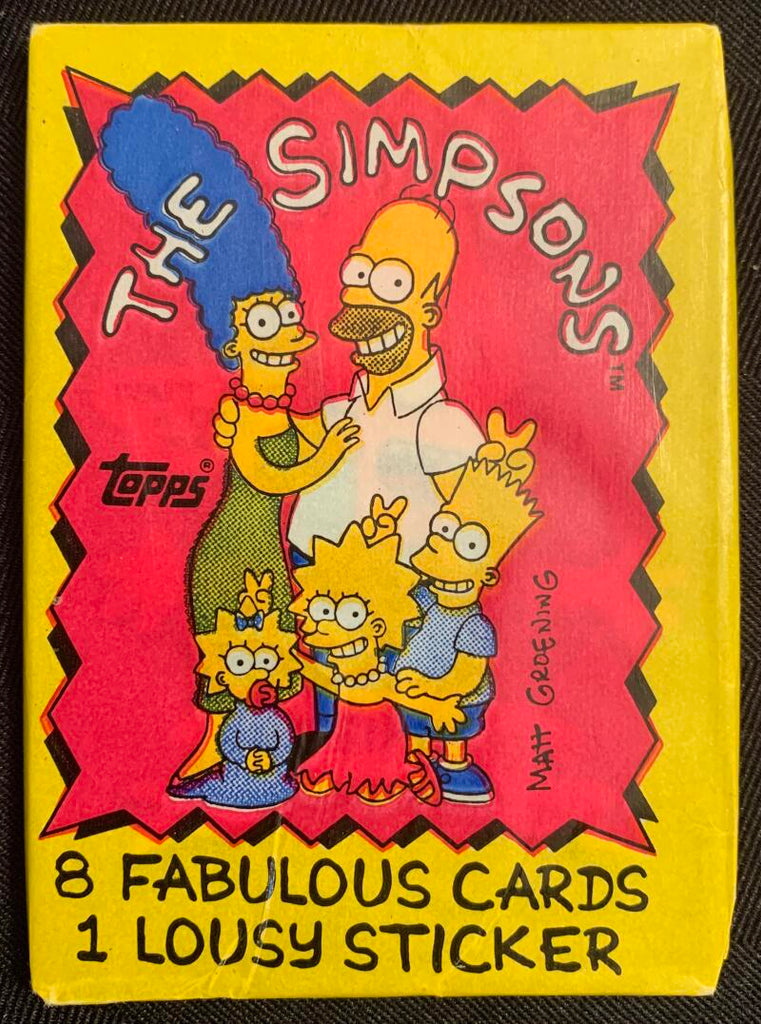 1990 Topps The Simpsons TV Sealed Wax Hobby Trading Pack PK-121